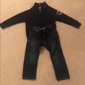 4 year old boy jeans and shirt bundle